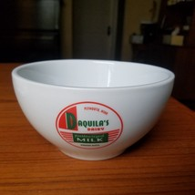 "Pottery Barn vintage ""Milk"" Bowl Daquila's Dairy Bowl Plymouth Minnesota... - $24.18"