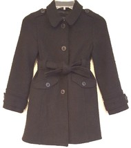 GAP KIDS RN 54023 – Girl's Black Wool Blend Peacoat - Size: MED 8-9 Years - $36.98