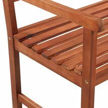 vidaXL Acacia Wood Classic Bench Outdoor Garden Chair Furniture Porch Outdoor image 4