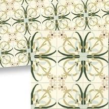 Grn blu wh tan circles floor mosaic tiles wm34119 2 thumb200