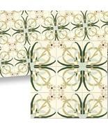 Dollhouse Mosaic Floor Tile Sheet 34119 Beige Green World Model Miniatures - $6.58