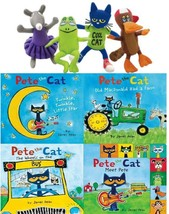 James Dean's PETE THE CAT Series BOARD BOOK Collection 1-4 WITH PLUSH FR... - $51.99