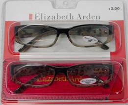 Elizabeth Arden Readers 2 Pack Rectangle Khaki Blk Leopard Plastic 2.5 #2 - $17.99