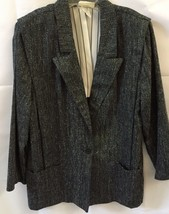 Women's Laurie Lee Womens Black Gray Jacket Blazer 13/14 Made in the USA... - $21.99
