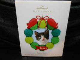 "Hallmark Keepsake ""Pretty Kitty"" 2010 Photo Holder Ornament NEW - $2.97"