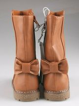 Cat & Jack Girls Toddler Brown Cognac Hermione Tall Fashion Bow Riding Boots image 4