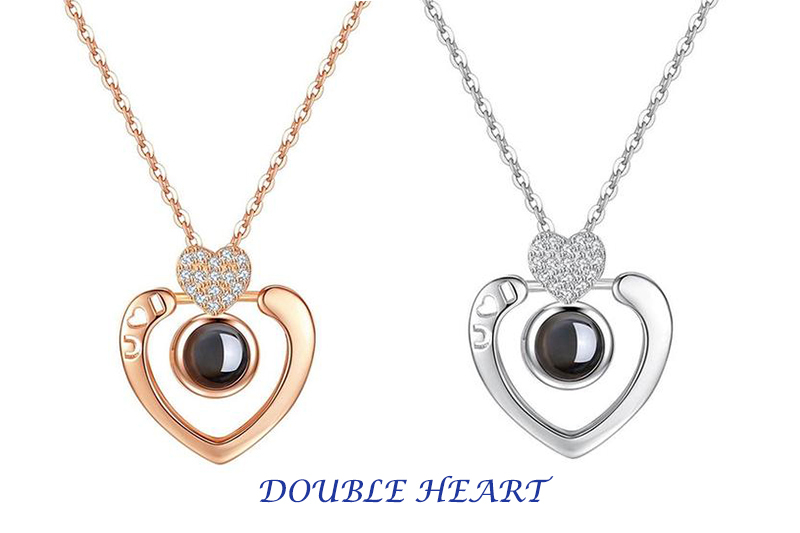 "XUFAN Romantic Projection (""I Love You"") Ladies Pendant - Various Styles, CZ image 8"