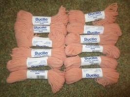 12 (1 Dz.) Bucilla #400 Peach Plastic Canvas Acrylic 4-Ply Yarn - 25 Yds. Each - $7.43