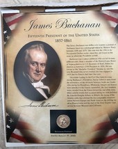 US Presidents Coin Collection PCS 1 Panel Bachelor James Buchanan Dollar... - $28.04