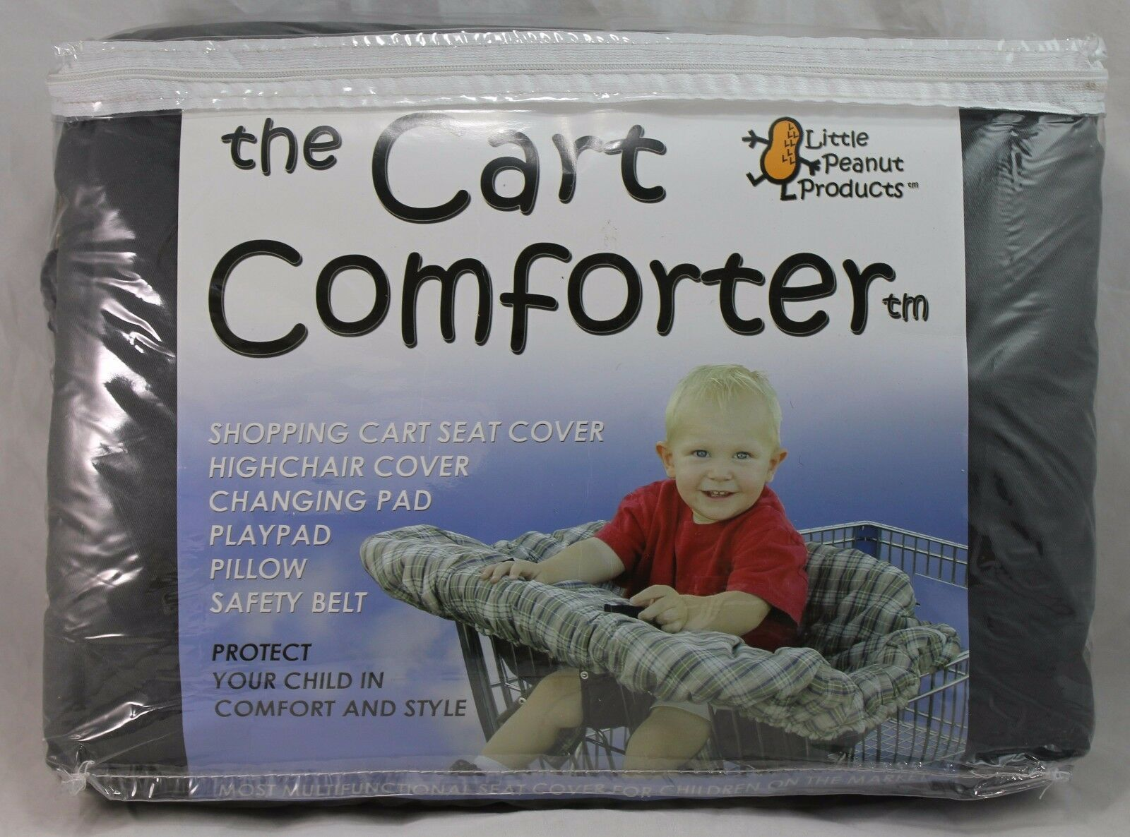 "Primary image for The Cart Comforter, Shopping Cart Cover, Little Peanut Products, 41""x45"", Brown"