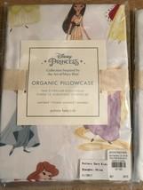Pottery Barn Disney Organic Princess Pillowcase Standard White Pink 100% Cotton - $16.95