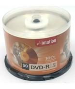 Imation DVD-R 16x 2hr 50pk Video Photo Data Storage Cake Box - $9.99