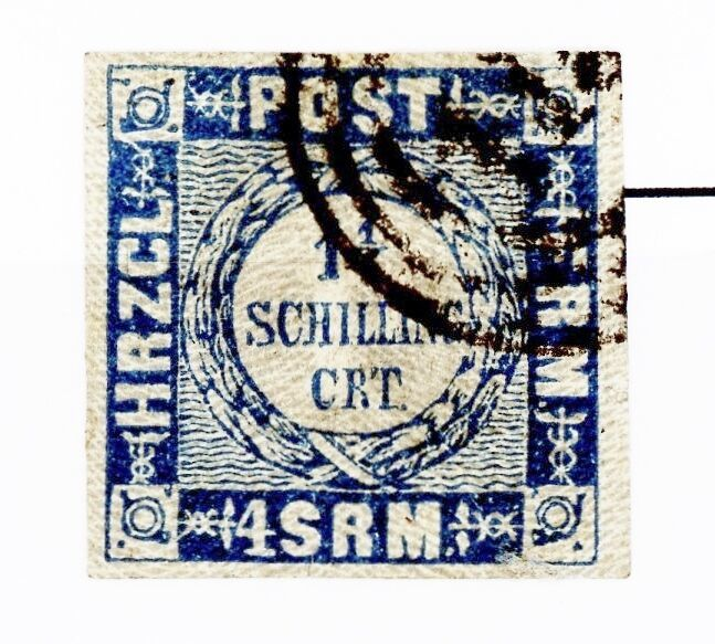 Primary image for Germany Holstein Issue of 1864 1 1/4 Schillings Type 3 Used Scott's 17
