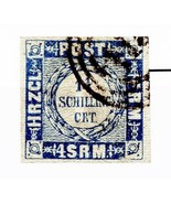 Germany Holstein Issue of 1864 1 1/4 Schillings Type 3 Used Scott's 17 - $918,46 MXN