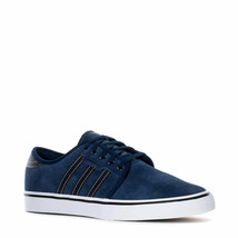 ADIDAS SEELEY ATHLETIC TRAINER SPORTS LOW SNEAKERS MEN SHOES NAVY SIZE 8... - $69.29