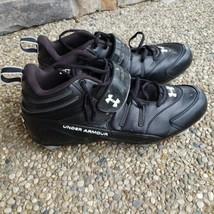 Under Armour Intensity Mid D Black Men's Cleats Size 13 - $29.99
