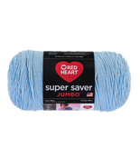 Red Heart Super Saver Jumbo Yarn, 14 Oz., Light Blue - $15.95