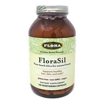 FloraSil for Hair, Skin, and Nails, 180 Capsules  - Supports Vegan Collagen, Ker