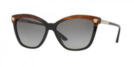 Versace Sunglass Mod:4313 5180/11 Black/Havana/Gold Medusa w/Grey Gradient 57MM - $199.87