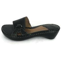 Born Womens Sandals Size 10 Black Slip On Comfort Shoes Causal Summer Shoe - $20.43