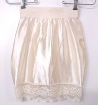 VTG Victoria's Secret Gold Label Girdle Slip Panty Shapewear Satin Lace ... - $23.70