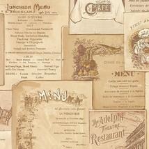 Vintage Cafe Menu in Multiple Shades of Beige & Brown Wallpaper FK26954 - $20.22