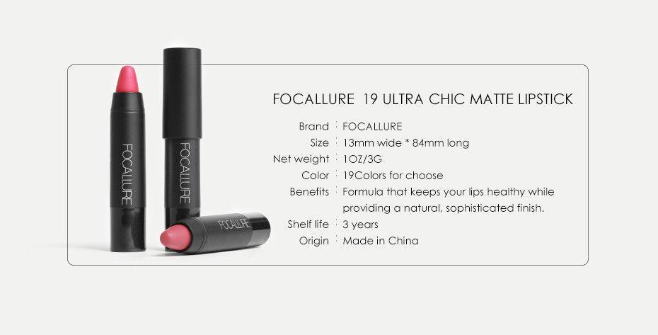Matte Lipsticks Waterproof Lip Sticks Long Lasting Pencil Cosmetic Lips Makeup image 12