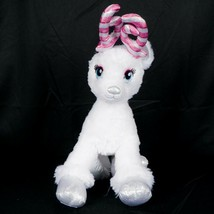 """Build a Bear Reindeer Plush 18"""" White Christmas Pink Antlers Sparkly Sil... - $27.58"""