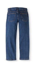 Faded Glory Boys Straight Leg Light Wash Jeans Size 8 Adjustable Waist  image 2