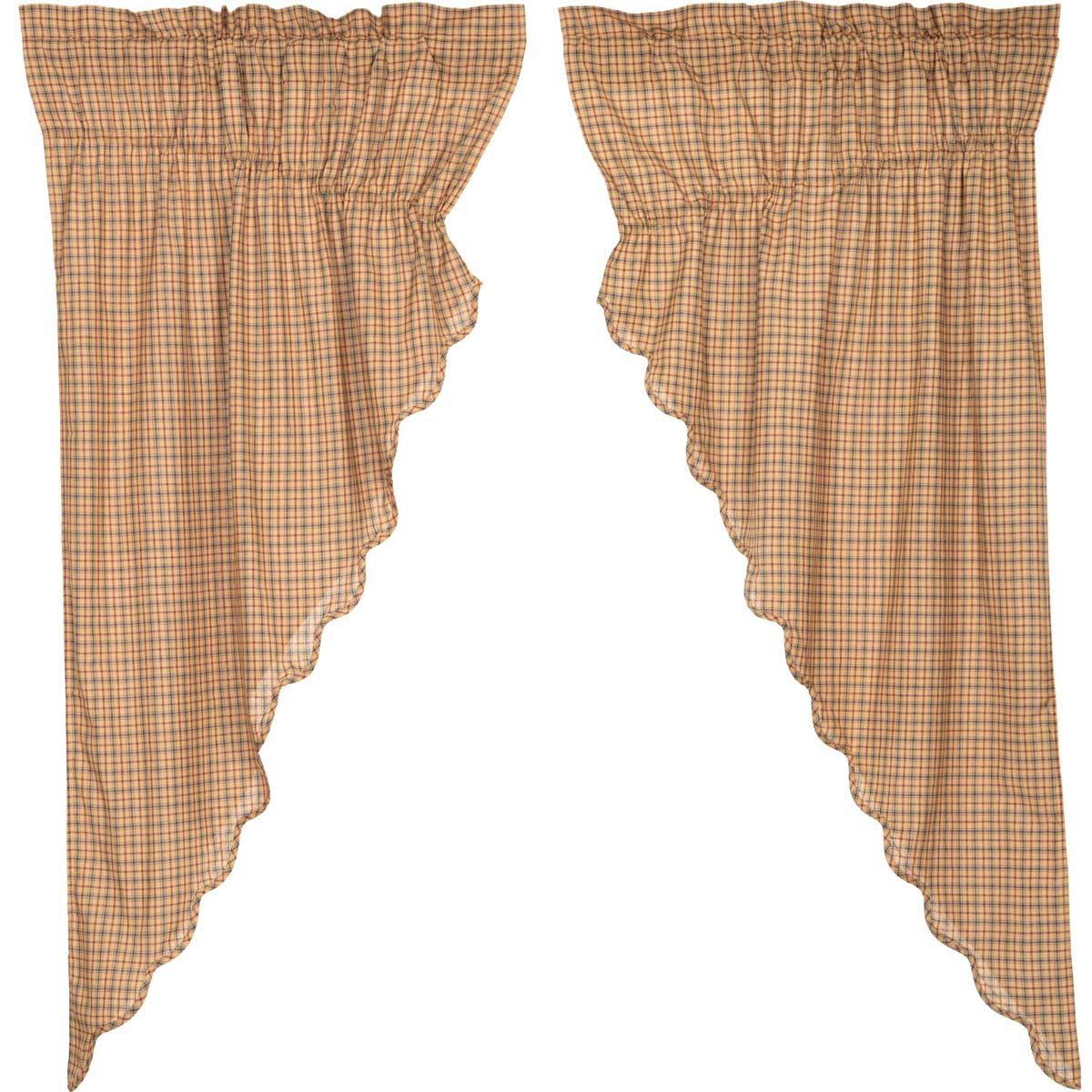 Millsboro Prairie Curtains 63x36x18""