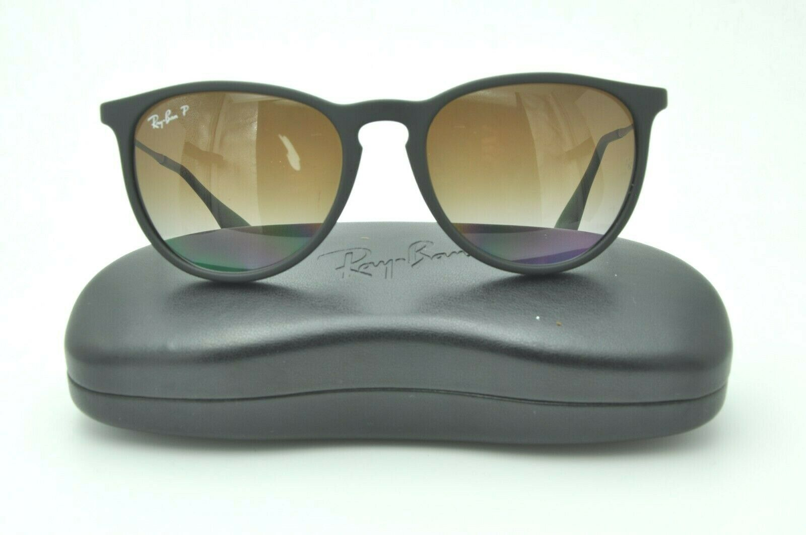 3c996a5346 Ray Ban RB 4171 Erika Sunglasses 622/8G Rubber Black / Brown Gradient  Polarized - $57.93