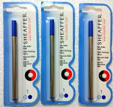 3 x Sheaffer® Blue Medium Slim ROLLER Ballpoint Pen Refill Roller BP (97... - $13.49