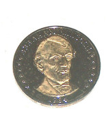1984 LL Abraham Lincoln President Double Eagle .999 Silver 24k Gold Laye... - $12.85