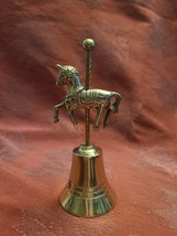 Vintage Solid Brass Unicorn Bell image 2