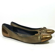 Burberry Womens Flats Shoes Size 40.5 Gold Leather Slip On - £37.08 GBP