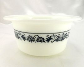 Pyrex 75 Old Town Dish Blue Wide Extended Rim Crock Style Bowl ~ Made in the USA image 5