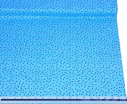 Spots Turquoise Blue Black 100% Cotton High Quality Fabric Material *3 S... - $1.79+
