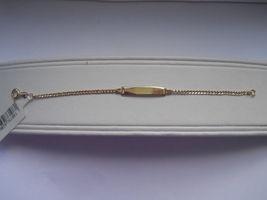 14K Gold Filled Curb Link Kids ID Bracelet Size... - $23.95