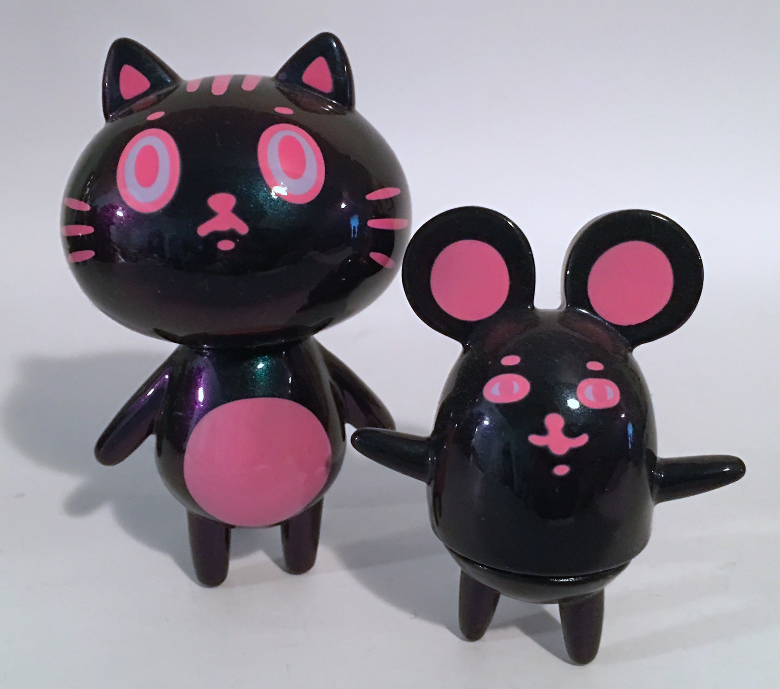 Baketan Pink Metallic Cat and Mouse Set RARE and LIMITED Set