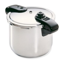 8-Quart Stainless Steel Pressure Cooker, Deluxe, High-speed Tri-clad Bas... - $85.92