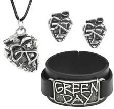 Green Day Grenade Band Pendant Leather Wristband Earrings Studs Alchemy ... - $19.95+