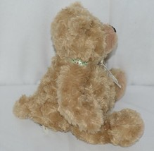 GANZ Brand HX11089 Light Brown Color Soft and Cuddly Hayden Plush Bear With Bow image 2