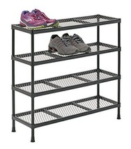 4 Shelf Garage Storage Cabinets Drawer Rack Tool Organizer Welded Wire Shelving - $47.64