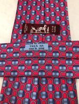 """Hermes Paris Red Locks 7415 HA Silk Luxury Tie 59"""" 150cm 3.75"""" 9.5 France  - $123.75"""