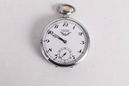 Antique Vintage Old Swiss Made Chronometre Movado Open Face Mens Pocket ... - $266.41