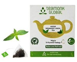 Teamonk Kozan Nilgiri Spearmint Green Tea Bags - 10 Teabags | Tea for Relaxation - $10.99