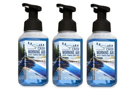 3 Bath & Body Works Crisp Morning Air Gentle Foaming Hand Soap Pine Juniper Pear - $18.35