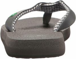 NEW Sanuk Women's Ebony Black Charcoal Yoga Mat Flip-Flop Beach Sandals Slippers image 4