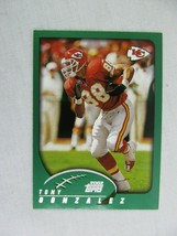 Tony Gonzalez Kansas City Chiefs 2002 Topps Football Card 9 - $0.98