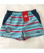 The North Face Girls Blue Striped G Class V Shorts Size L, M NWT $35 - $14.99